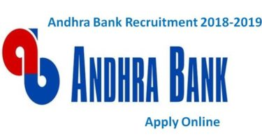 Andhra Bank Recruitment 2018-2019 Clerk PO and SO Vacancies