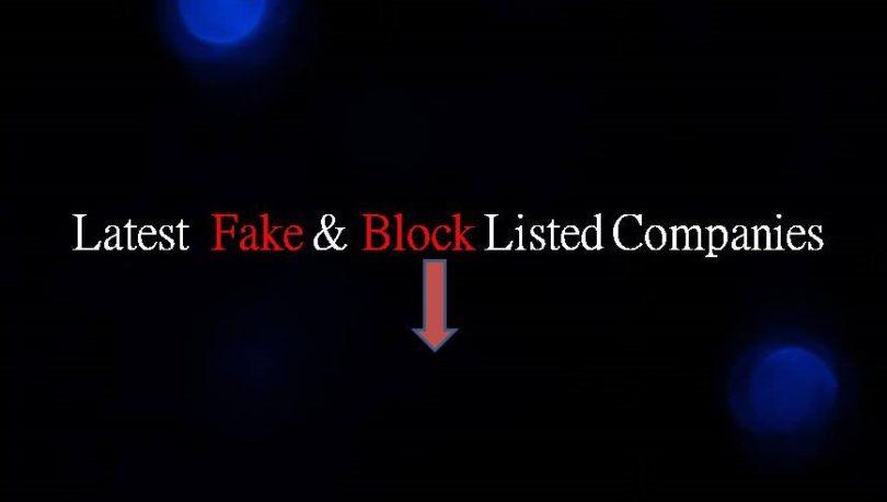 Latest Fake and Blacklisted Companies List